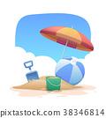 Summer holidays beach background 38346814