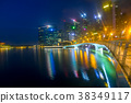 Night Marina Bay of Singapore with Light Mist 38349117