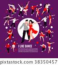 Dance Isometric People Composition 38350457