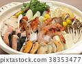 냄비, 음식, 새우초밥 38353477