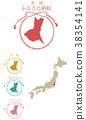 日本 日本地图 矢量 38354141