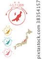 日本 日本地图 矢量 38354157