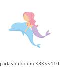 美人鱼 海豚 矢量 38355410