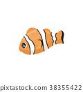 Cartoon character of clownfish. Anemone fish in 38355422