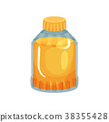 Transparent bottle with plastic cap filled with 38355428