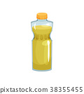 Transparent plastic bottle with cap filled with 38355455