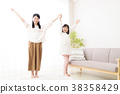 부자 가족 어린이 여자 초등학생 여성 라이프 스타일 38358429