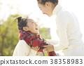 父母身份 父母和小孩 公园 38358983