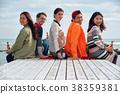 欧洲人 白种人 海岸 38359381