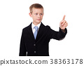 student in a business suit on a white background 38363178