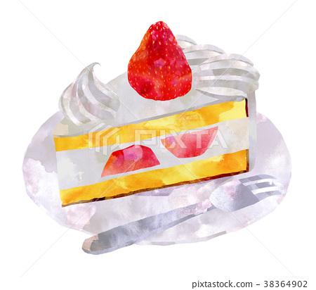脆餅 草莓 蛋糕 38364902