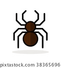 spider icon white 38365696