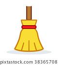 broom vector icon 38365708