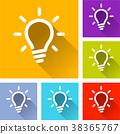 icon, lightbulb, light 38365767