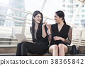 businesswoman showing hand finger for promise. 38365842