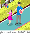 Gifts On Birthday Isometric Background 38366146
