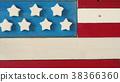 Rustic wooden American flag 38366360