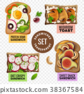 Sandwiches Transparent Set 38367584