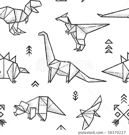 Cara Membuat Origami Raptor Dinosaurus   Origami, How to make ...   468x450