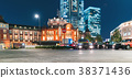 Tokyo Station illuminated at night 38371436