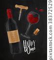 wine, bottle, corkscrew 38372529