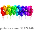 Colorful party balloons row 38374146