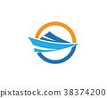 cruise ship Logo Template 38374200