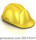 Yellow safety helmet 38374247