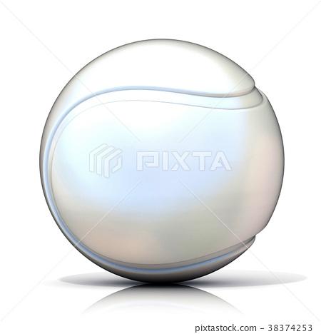 White tennis ball 38374253