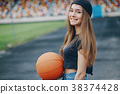 Girl with a ball 38374428