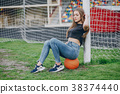 Girl with a ball 38374440