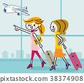 旅行女人機場 38374908