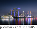 Singapore cityscape and business center at night 38376853
