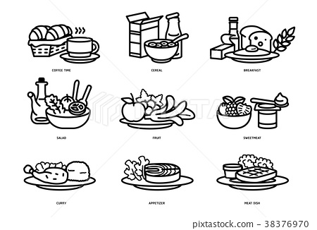 meals of who should eat in a day line flat icon.  38376970