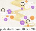일본식 모던 국화 꽃 (종이 질감) 38377294