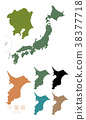 japan, map of japan, the japanese islands 38377718