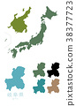 japan, map of japan, the japanese islands 38377723