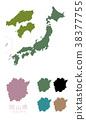 japan, map of japan, map 38377755