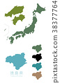 japan, map of japan, the japanese islands 38377764