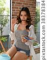 Concept Artist Beautiful girl. Beautiful women are creating art. 38378384