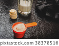 powder, protein, scoop 38378516
