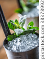mint cocktail ice 38378992