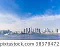 面向大海的城市景观 38379472