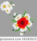 Bouquet of poppies and chamomile flowers 38382625
