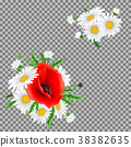 Bouquet of poppies and chamomile flowers 38382635