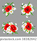 Bouquet of poppies and chamomile flowers 38382642