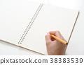 여성, 여자, 연필 38383539