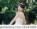 가든 웨딩 신부 신부 38383866