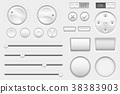 Interface buttons. Web toggle switch buttons 38383903
