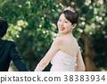 가든 웨딩 신부 신부 38383934